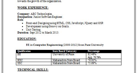 Resume cv java c junit testing stanford job