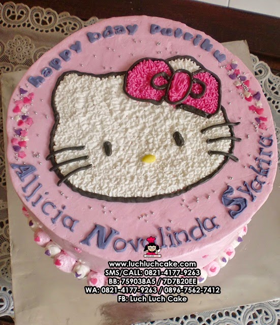 Kue Tart hello Kitty Buttercream Cantik