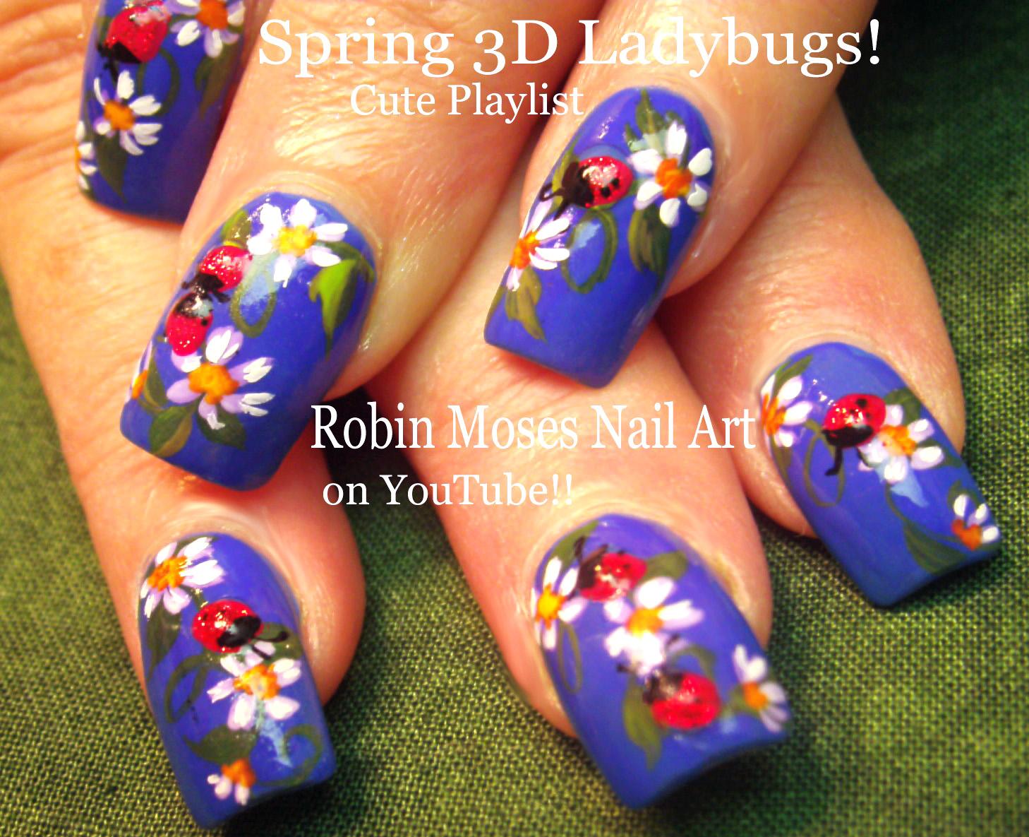 """Robin Moses Nail Art: """"ladybug nails"""" """"cute summer nails"""