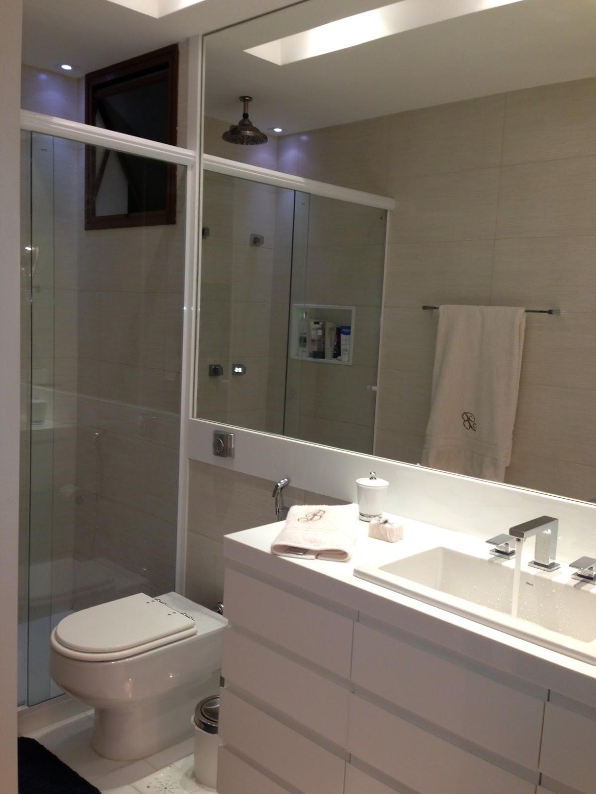 FCL.interiores: Banheiro bege e branco #80704B 1200x1600 Banheiro Bege E Marrom