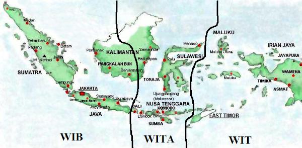 Alasan Indonesia Dibagi 3 Bagian Waktu