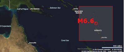 terremoto 6,6 grados Vanuatu, 20 de Octubre 2012