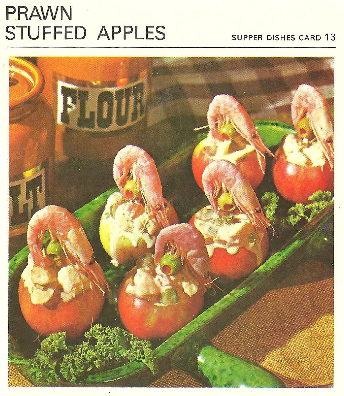 Bad and ugly of retro food canadian gut bombs recipe cards 10 americans kind of prefer our shrimp to not have the eyes and clutching for dear life forumfinder Choice Image