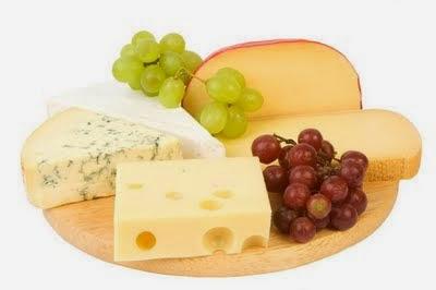 Alguns diferentes tipos de queijo