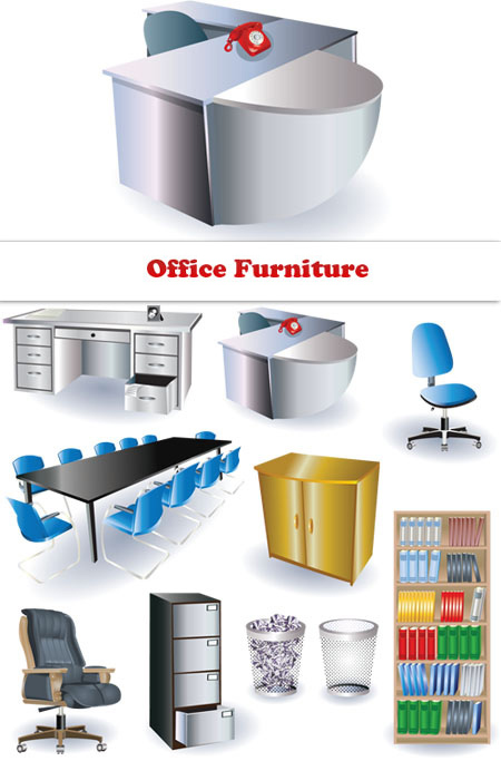 Download Office Furniture - Vector Clipart