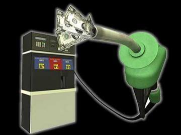 La venta de las máquinas sobre el panel sobre la gasolina