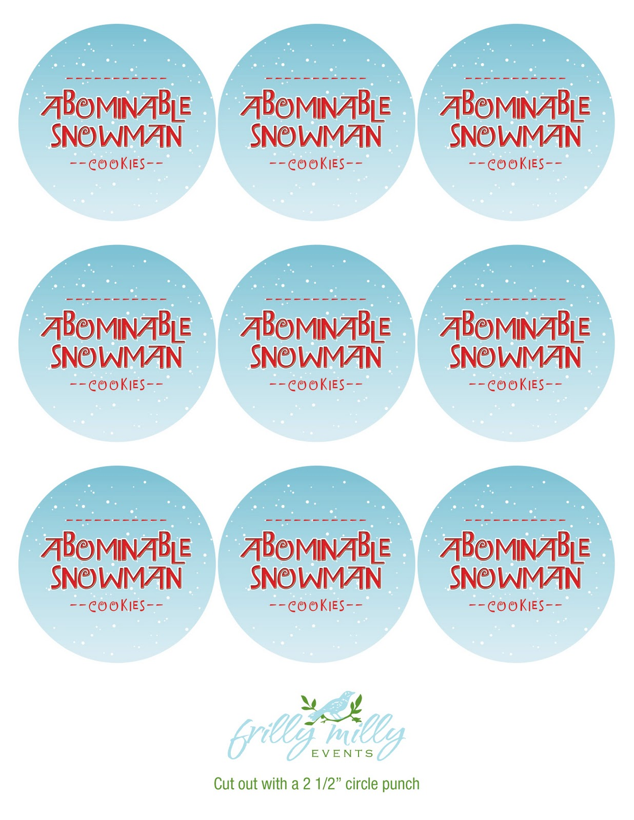Frilly Milly Events Abominable Snowman Cookies In A Jar Updated