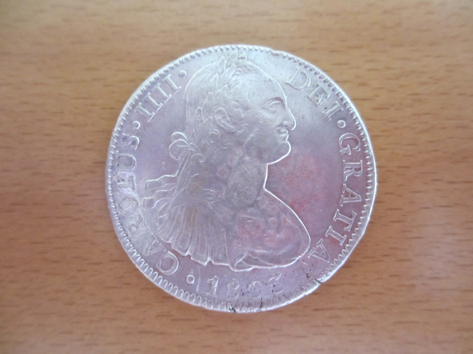 "Carlos IV, 8 Reales 1803 (Méjico) Naufragio ""HMS Athenienne"" IMG_0754"