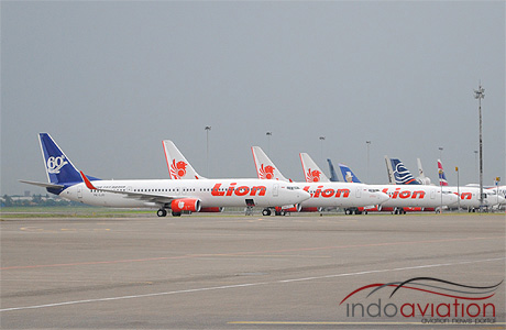 deretan pesawat lion air