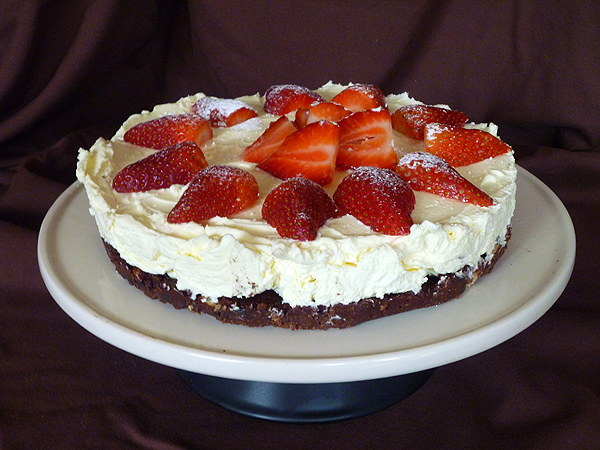 Rustic Strawberry Cheesecake Recipe