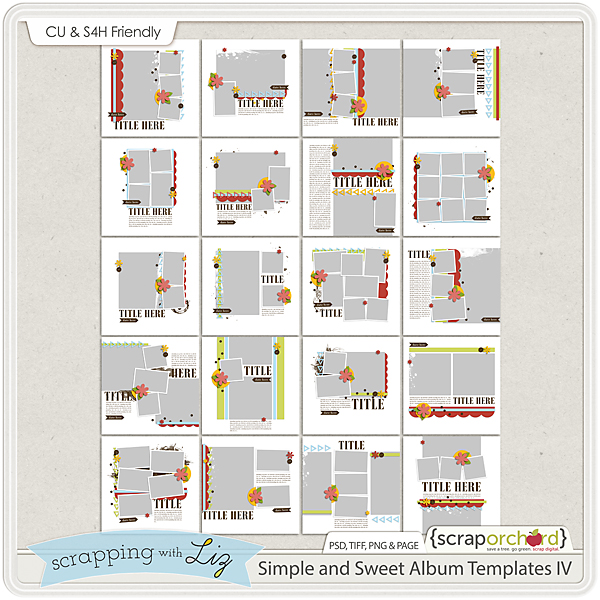 http://scraporchard.com/market/Simple-and-Sweet-Album-4-Digital-Scrapbook-Templates.html
