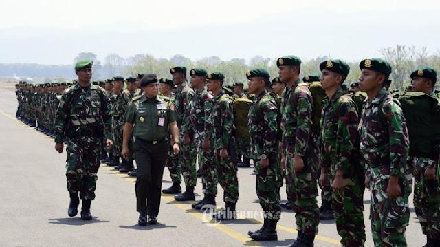 500 Prajurit Kostrad TNI Padamkan Kebakaran Hutan di Kalimantan Selatan