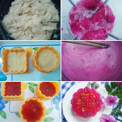 Cách làm bánh trung thu rau câu nhân đậu xanh, thanh long đỏ 1