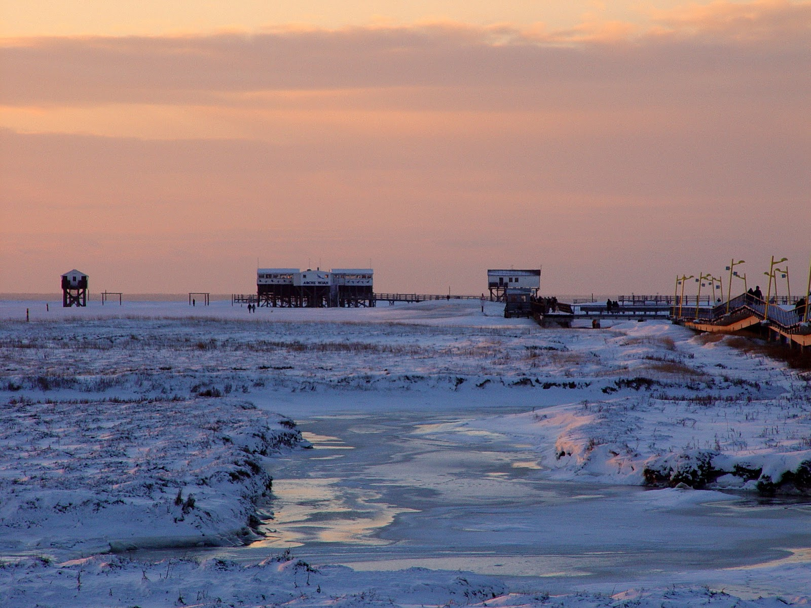 Winterfoto Strand St. Peter-Ording