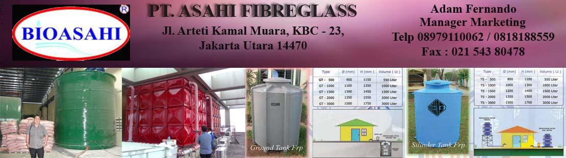 Tangki Air Fiberglas | PT ASAHI FIBREGLASS