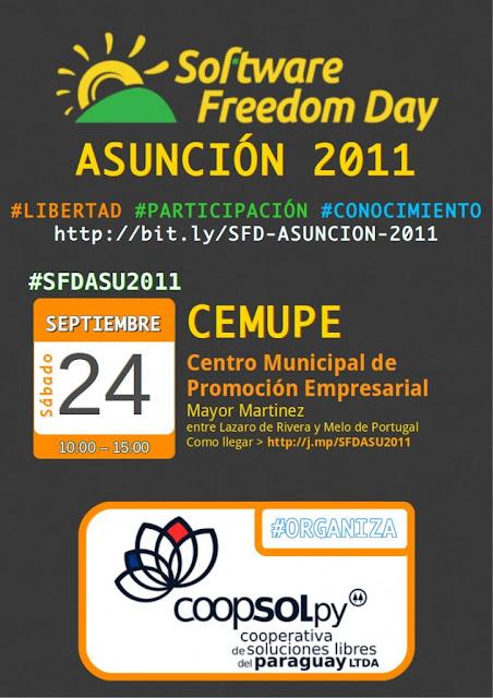 Imagen del Software Freedom Day Asunción 2011