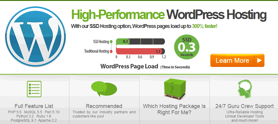 Banner - A2Hosting Short Review, Wordpress High Page Load Speed Shared Host