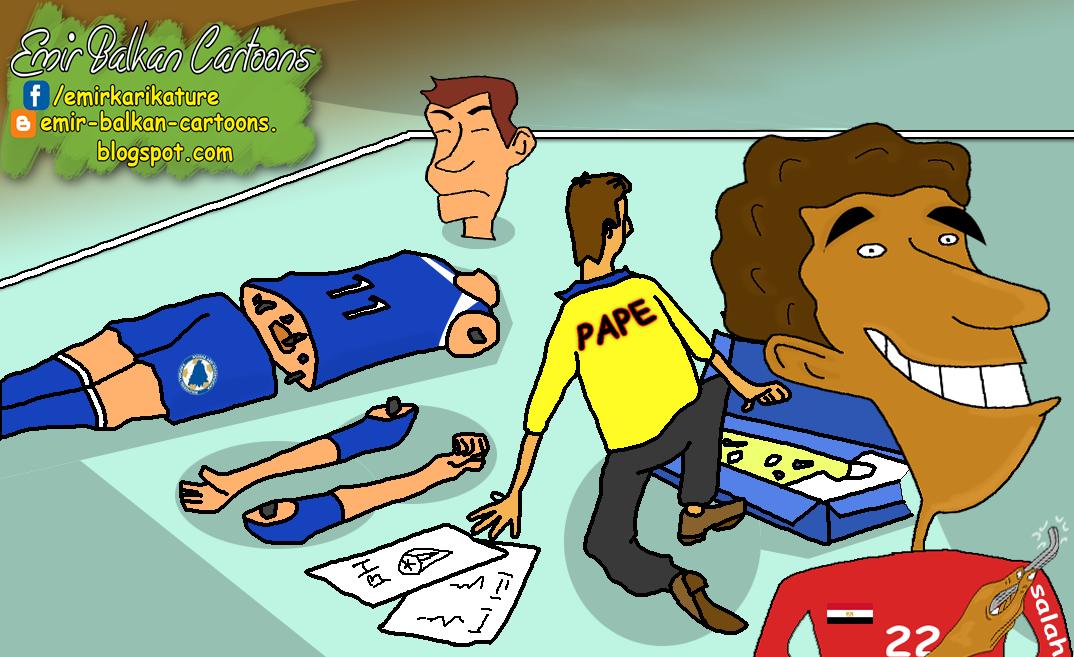 Mohamed Salah, bosnu i hercegovinu,bih,egipat,karikature,fudbal,emir balkan cartoons,omar momani,