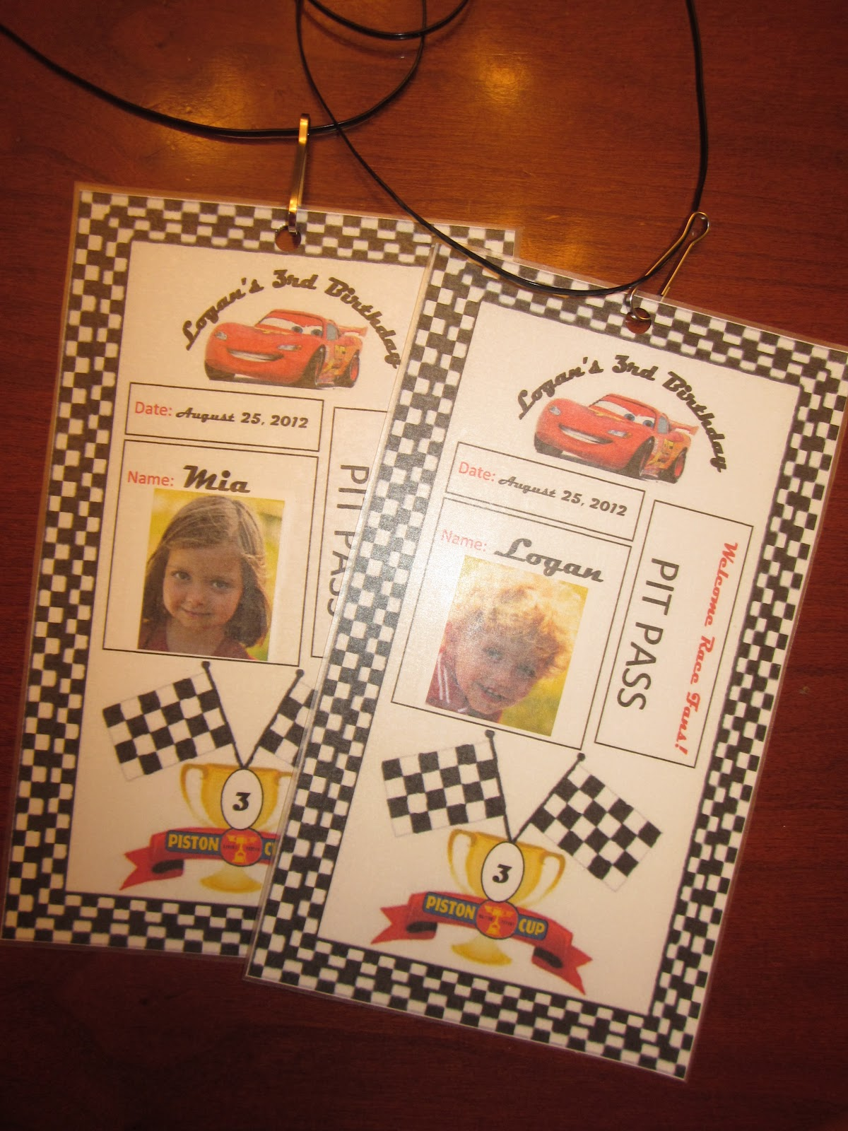 Because I Said So  and Other Mommyisms   DIY Cars Party Pit Passes