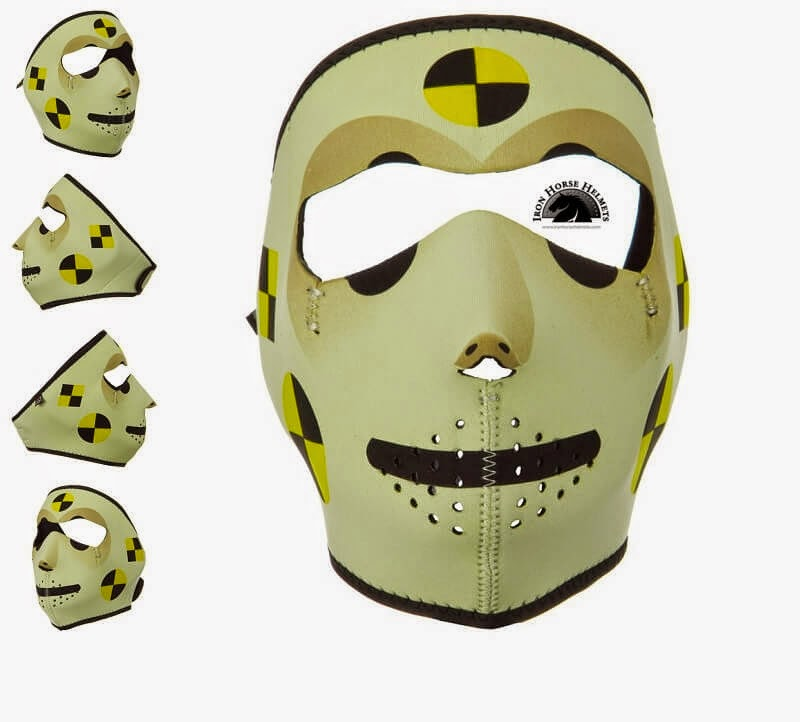 Crash Dummy Neoprene Face Mask