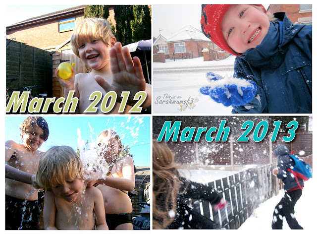 The differences in weather march 2012 to 2013