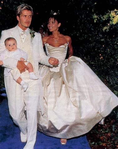 victoria beckham wedding photos