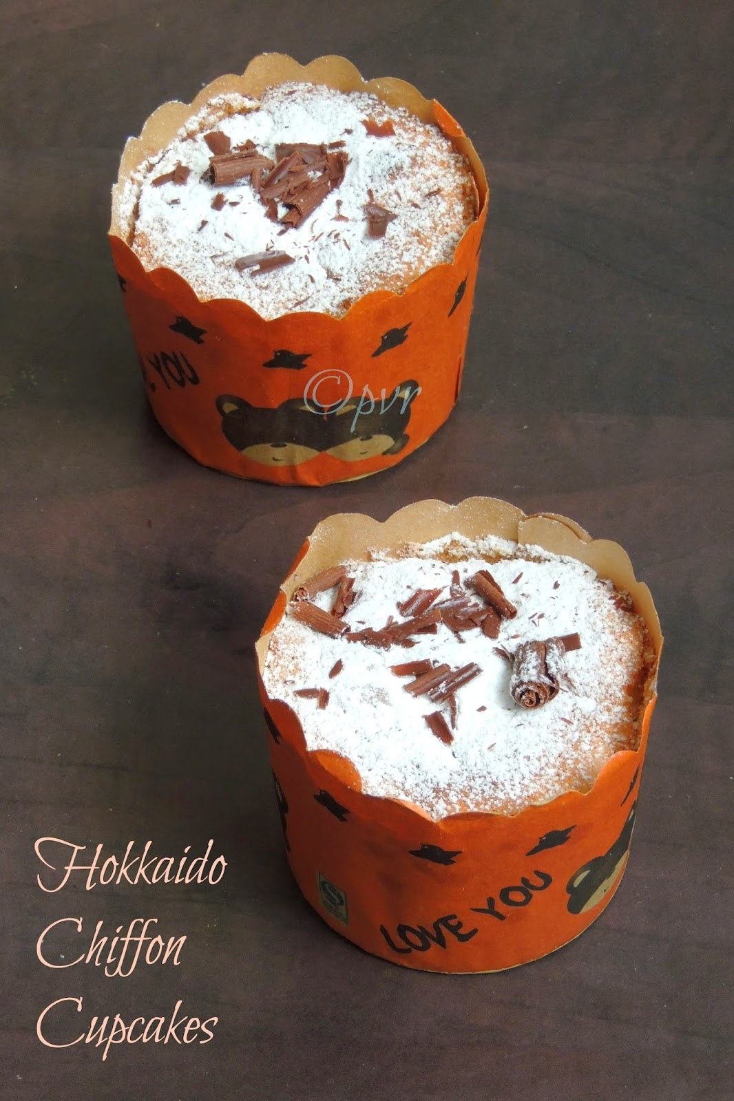 Hokkaida chiffon cupcakes