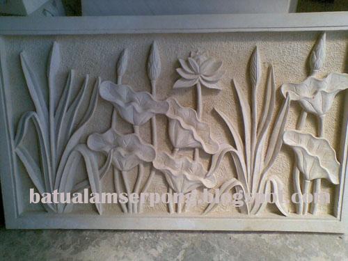 relief batu alam ukir jakarta bsd gading serpong