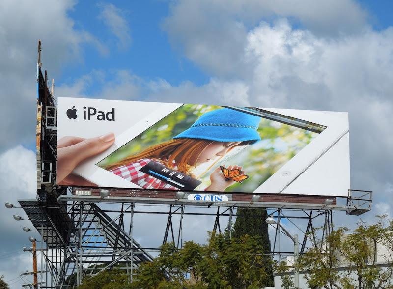 iPad butterfly girl ad