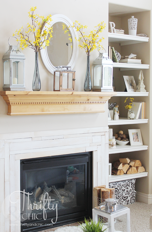 Thrifty and Chic  DIY Projects and Home Decor ~ 141146_Fireplace Mantel Decorating Ideas For Summer