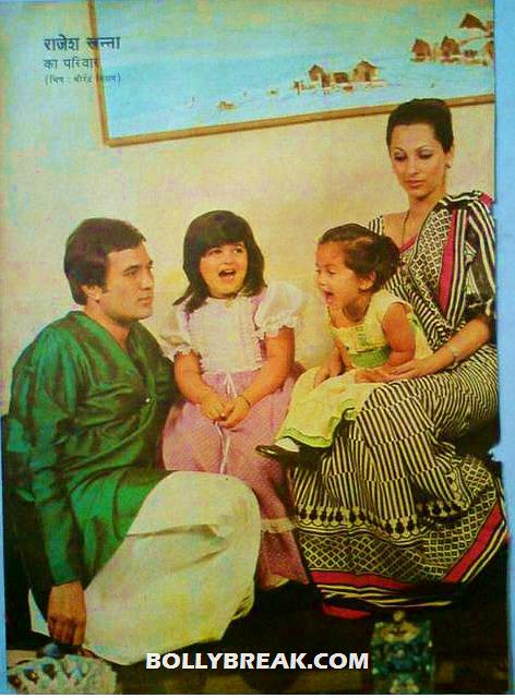 Rajesh khanna with dimple kapadia and twinkle, rinki khanna - Remembering Rajesh Khanna - First Bollywood Superstar