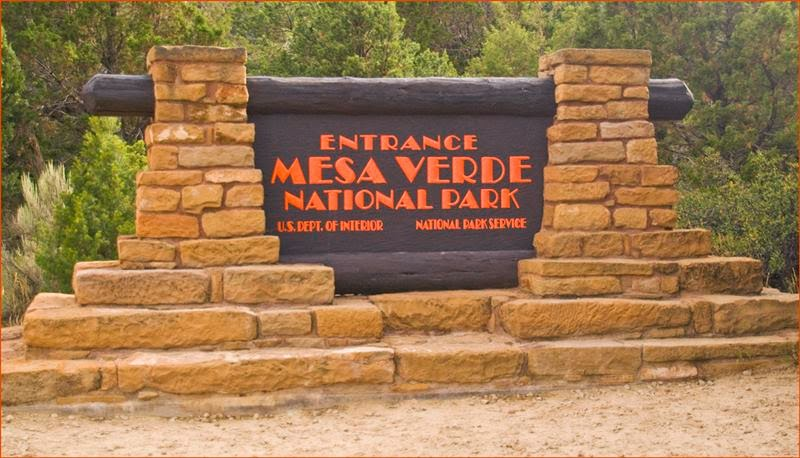 Mesa Verde National Park Entrance Sign (CO) August 2013