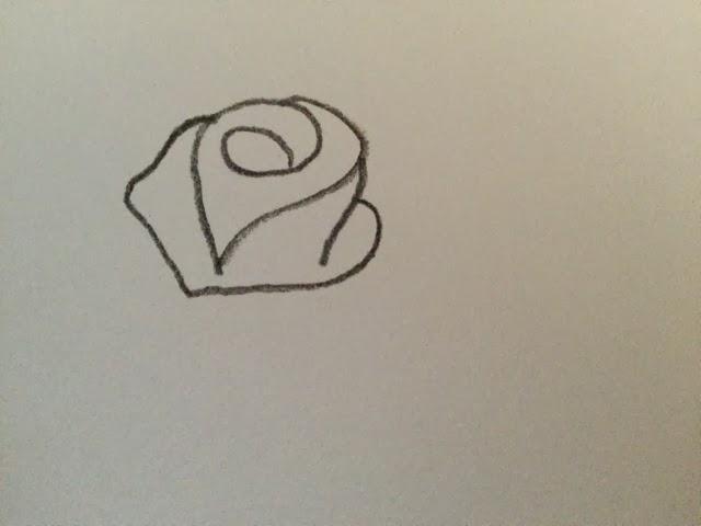 Simple Line Art Rose : Merinal brunda how to draw a rose