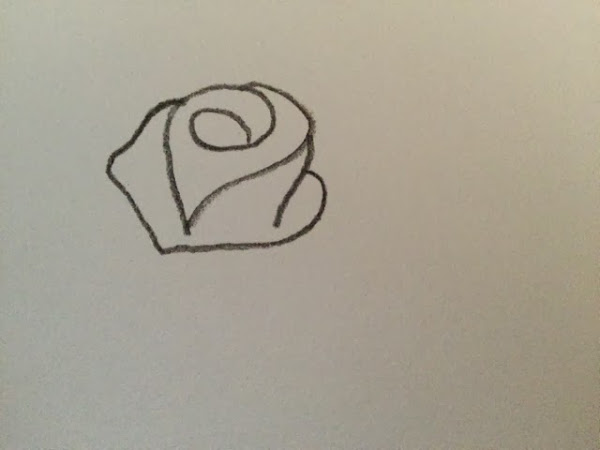 How to draw a simple rose step by step for beginners for Easy to draw roses for beginners