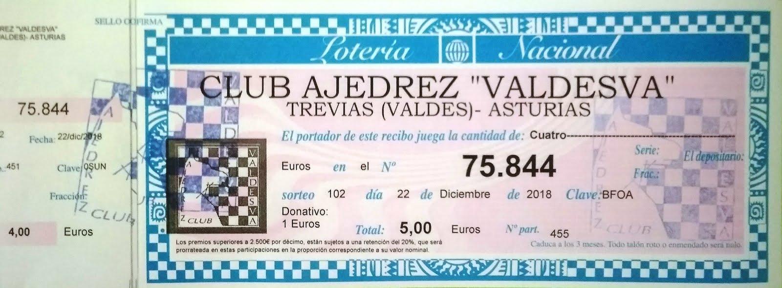 Lotería Valdesva 2018