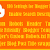 Important SEO Settings for Blogger Blogs the blogger search setting