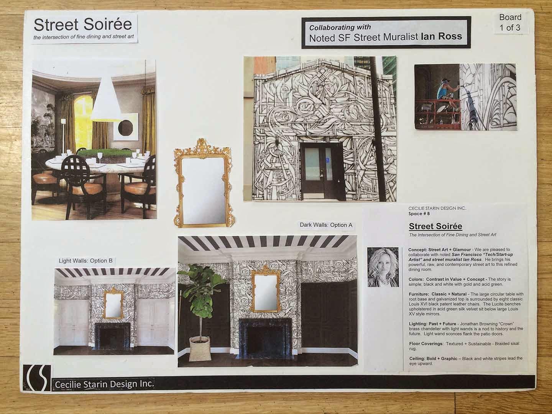 Beautiful Initial Design Presentation Board
