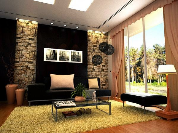 Alternative Large Living Room with High Ceilings Decorating Ideas