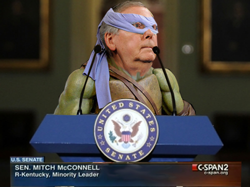 "Mitch McConnell Revealed to be a ""Sewer-dwelling Mutant"" as Debt Crisis Looms"