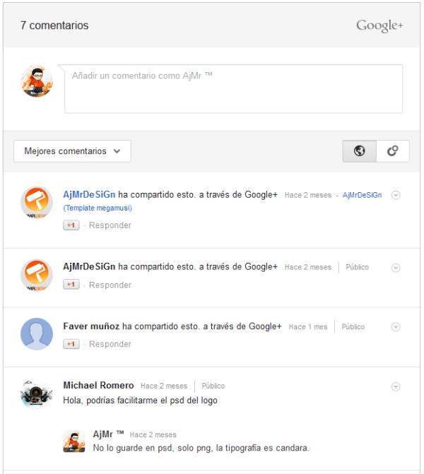 Usar comentarios de Google+ en blogger