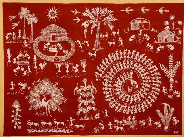 Indian art warli art maharashtra home and decoration altavistaventures Image collections