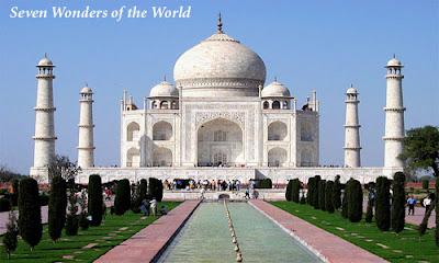 India Travel - Taj Mahal Seven Wonders of the World