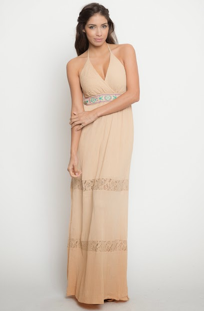 Buy online halter neck maxi dresses for women on sale at caralase.com