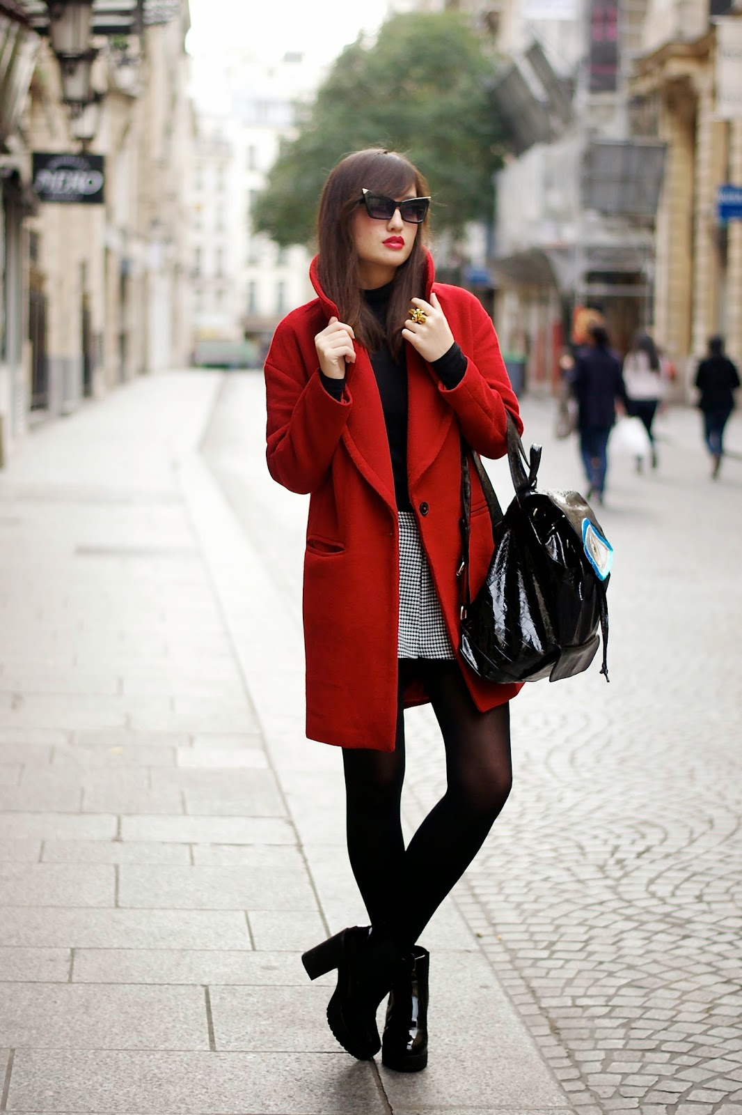 Red Coat Look
