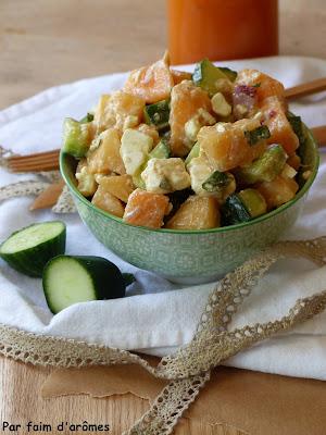 Salade Concombre, Melon, Feta
