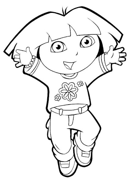 free download dora coloring pages - photo#27