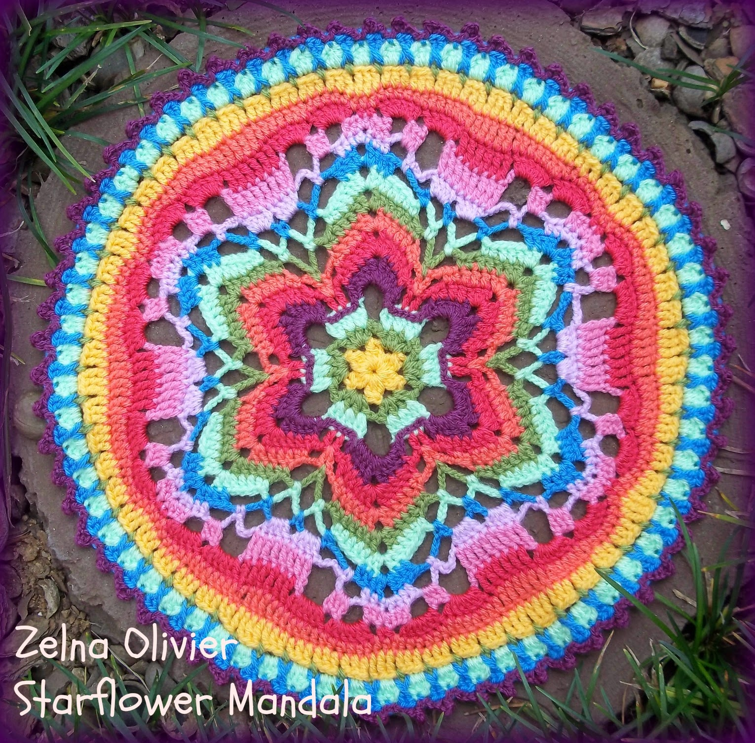 Crochet Free Pattern Mandala : Zooty Owls Crafty Blog: Starflower Mandala: Pattern