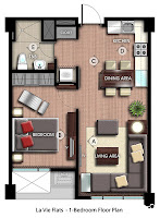 La Vie Flats Alabang, 1-Bedroom Unit, Condominium for Sale in Alabang, Filinvest