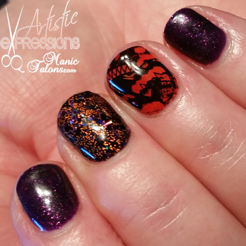 Halloween Nails with Madam Glam, Glitter and Stamping