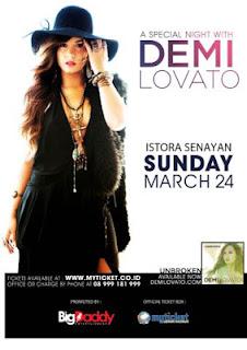 Demi Lovato Konser di Jakarta 24 Maret 2013